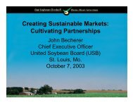 Creating Sustainable Markets: Cultivating Partnerships
