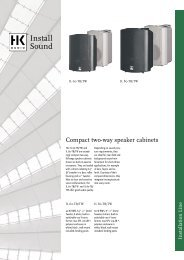 Compact two-way speaker cabinets - LIVEAUDIO.ro