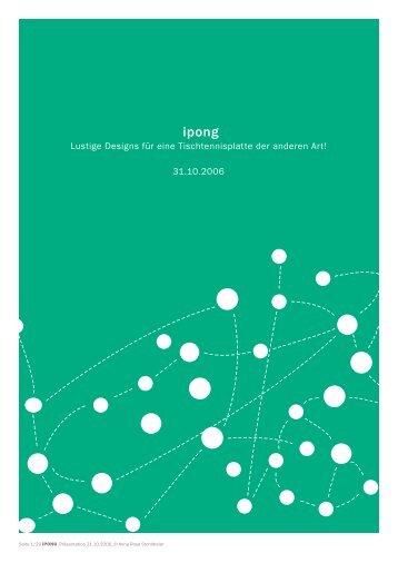 Lustige Designs für eine Tischtennisplatte der ... - Rosa Design