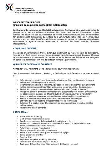 Description de poste technicien ou technicienne comptable - Chambre des metiers ou chambre de commerce ...