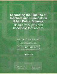 Expanding the Pipeline of Teachers and Principals in ... - Public Impact