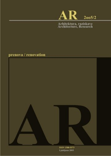Revija 2005/2 v PDF - Fakulteta za arhitekturo - Univerza v Ljubljani