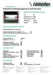 Einbauhilfe Anhängerkupplung für Audi A4 Avant - AutoFaszination