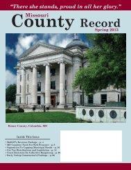 Missouri County Record Spring 2013 (PDF) - Missouri Association of ...