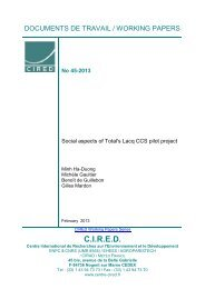 DT/WP No 2013-45 - Centre International de Recherche sur l ...