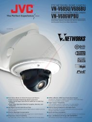 (Indoor /Outdoor) PTZ Network Dome Cameras (6 page ... - JVC
