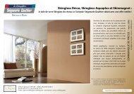 Skinglass Décor, Skinglass Aquaplus et Skinmagnet :