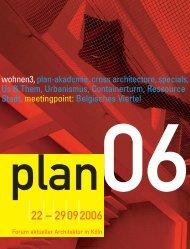 wohnen3, plan-akademie, cross architecture, specials ... - plan  project