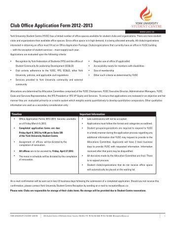 tco application form york university