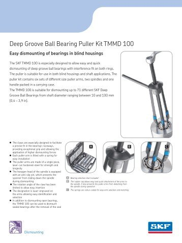 Deep Groove Ball Bearing Puller Kit TMMD 100 - Industrial GP - ro
