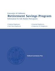 Retirement Savings Program - At Your Service - University of ...