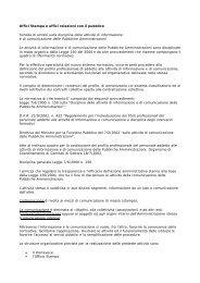 Uffici Stampa e uffici relazioni con il pubblico Scheda di sintesi ... - Cisl