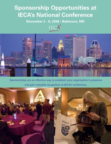 Sponsorship Opportunities at IECA's National Conference November 5