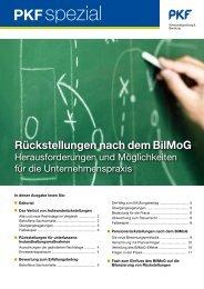 Heft 1 6/2010 Rückstellungen nach dem BilMoG - PKF