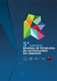 Carpeta RedTecnoArq - Facultad de Arquitectura, Diseño y ...