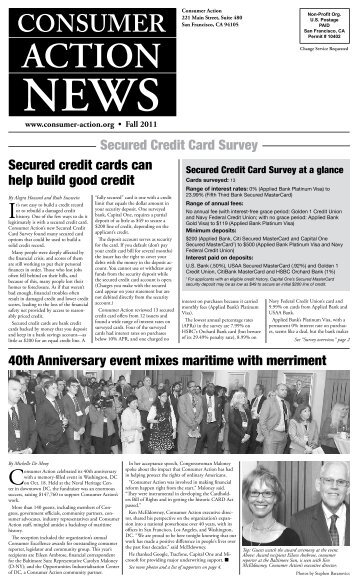 2011 Fall Issue: Secured Credit Card Survey - Consumer Action