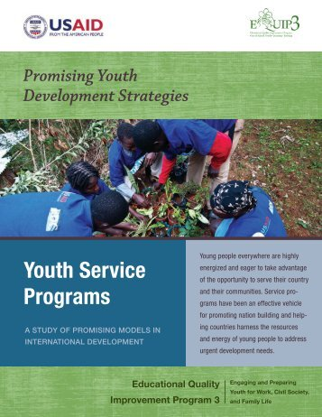 Youth Service Programs: A Study of Promising ... - EQUIP123.net