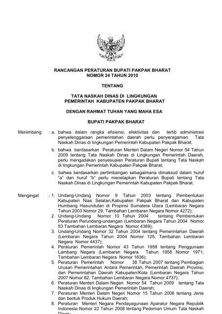Download Pdf 530kb Pemerintah Kabupaten Pakpak Bharat