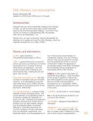 CML Glossary and abbreviations - CML Society