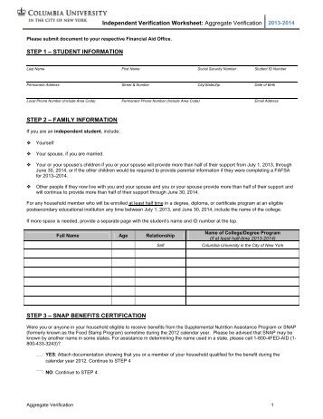 independent verification worksheet resultinfos. Black Bedroom Furniture Sets. Home Design Ideas