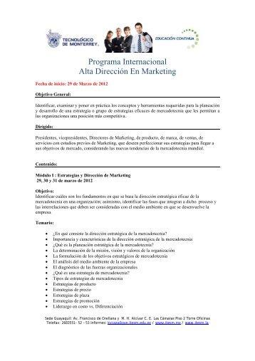 Programa Internacional Alta Dirección En Marketing