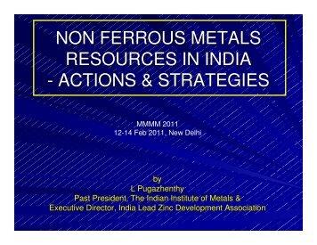 non ferrous metals resources in india - actions & strategies - IIM