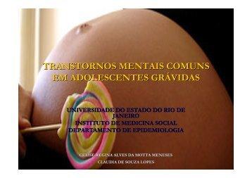 transtornos mentais comuns em adolescentes grávidas - Epi2008