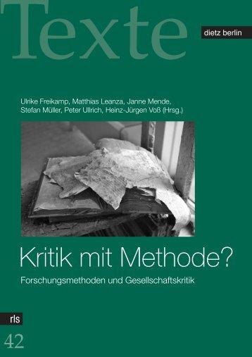 Kritik mit Methode? - Rosa-Luxemburg-Stiftung