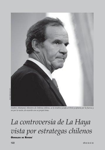 La controversia de La Haya vista por estrategas chilenos - Desco