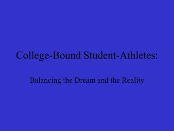 College-Bound Student-Athletes: