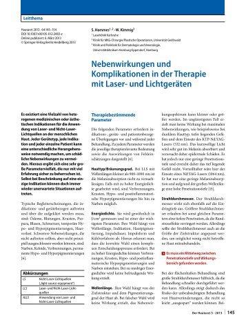 Nebenwirkungen und Komplikationen in der Therapie mit ... - Springer