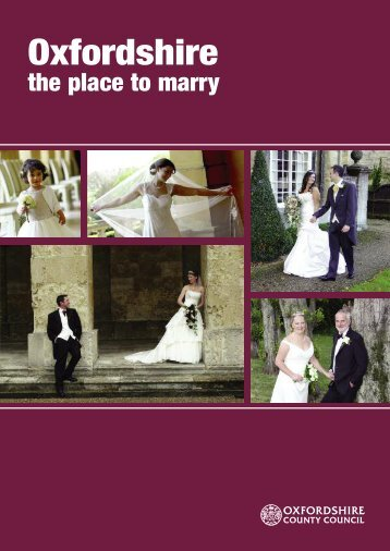 Oxfordshire Wedding 2003.qxp - Oxfordshire County Council