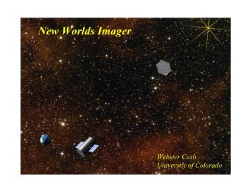 New Worlds Imager - NASA's Institute for Advanced Concepts