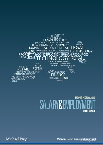 2013 Salary Employment Forecast - Michael Page Hong Kong