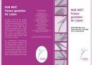 Frauen gestalten ihr Leben - Stadt Rosenheim