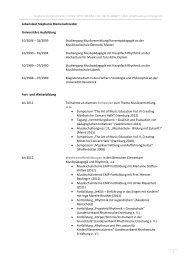 1 Lebenslauf Stephanie Riemenschneider Universitäre Ausbildung ...