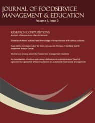 2012 Volume 6, Issue 2 - Foodservice Systems Management