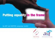 Putting equality in the frame - UCU