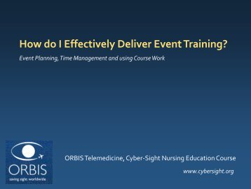Planning and promotion principles - Cyber-Sight - Orbis