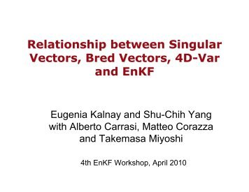 Relationship between Singular Vectors, Bred Vectors, 4D-Var and ...