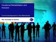 TNO Presentation - internationaler reha kongress 2010