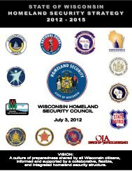 WI Homeland Security Strategy 2012-2015 - Wisconsin Homeland ...