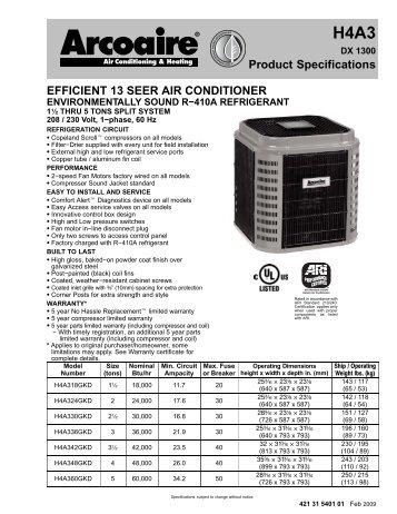 Rheem Ruud R 22 Air Conditioning 13 Seer List Pricing