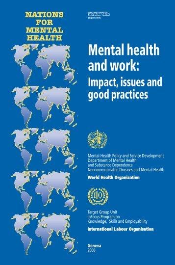 Mental health and work - International Labour Organization