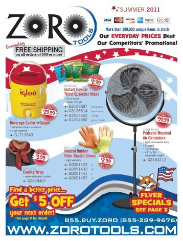 Preview our July flyer - Zoro Tools