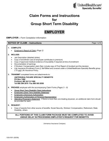Short-Term Disability Claim Forms - Family Video