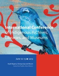 International Conference of Indigenous Archives, Libraries, and ...