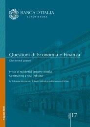 Questioni di Economia e Finanza - International Union of Tenants