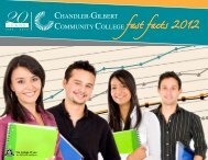 Fast Facts 2012 - Chandler-Gilbert Community College - Maricopa ...