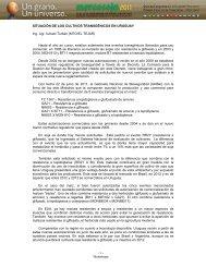 SITUACIÓN DE LOS CULTIVOS ... - Mercosoja 2011